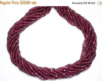 50% OFF AAA Quality Rhodolite Garnet Rondelle Beads 13 Inch Strand ,Rhodolite Garnet Faceted Rondelle Beads , 3.50 mm - MC241