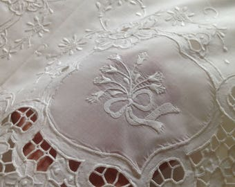 Hand embroidered linens