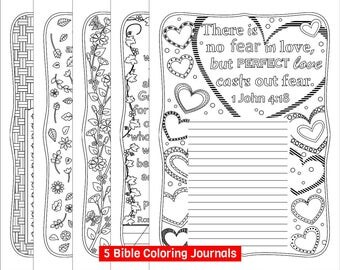 Five Bible Coloring Journals For Grown Ups Printable Pages Journaling With