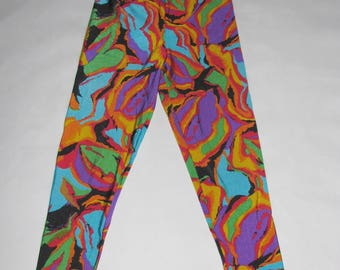 Vintage LEGGINGS shiny lycra Crane Sports 90s gymnastic PANTS Aerobics activewear trousers bicycle
