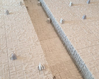 "Death Star Trench Run Terrain for X-Wing Miniatures 30""x35"" play surface"