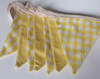 Yellow Gingham Bunting