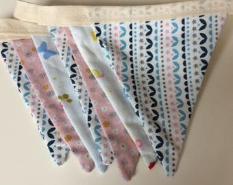Pale pink ditsy bunting