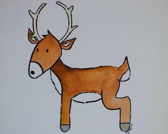 Little Wild Buck Print