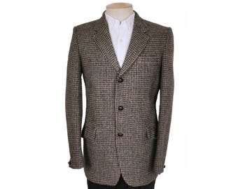 Vintage Harris Tweed Mens Jacket Dunn & Co Sport Coat Size M Long