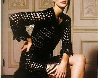 Ladies black vest, summer vest ,cardigans crochet  / custom