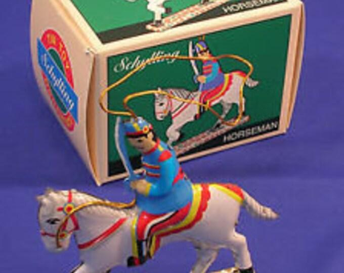 Rare NIB Schylling Miniature Tin Toy Horseman Ornament 1996