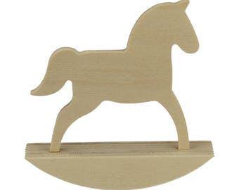 2 wooden rocking horse to customize 10 cm - Deco child's room