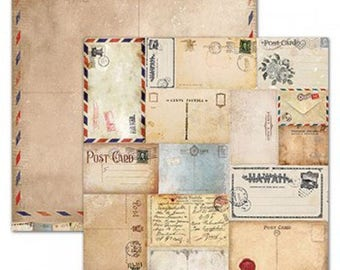 Paper industrial Vintage 30.5 x 30.5 cm - paper Cardmaking - paper Double sided 1530206