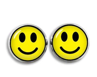 Smiley Stud Earrings Emoji Smiley Stud Earrings Kawaii Cute 12mm earrings Geeky