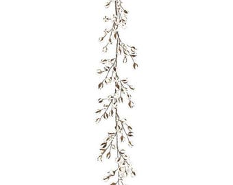 "Farm House Rustic Natural Vintage Cotton & pod GARLAND, for Fall,  Harvest , Christmas, everyday DIY wreanth floral 72""H (6')"
