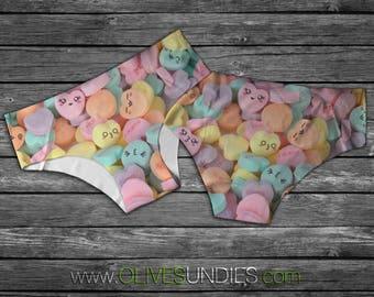 Kawaii Candy Hearts / Candy Panties / Kawaii Underwear