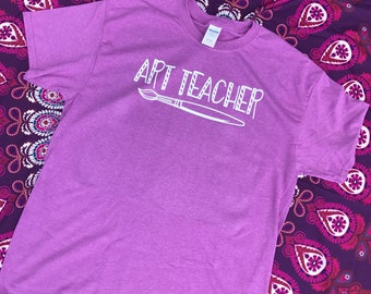 Art Teacher Shirt, Paintbrush Shirt, Back to School