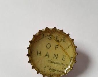 Isle Of Thanet Bottle Cap Pin Badge