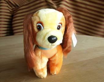 """Disney's Lady from Lady and the Tramp Dog Stuffed Animal Plush 6-1/2"""" tall"""