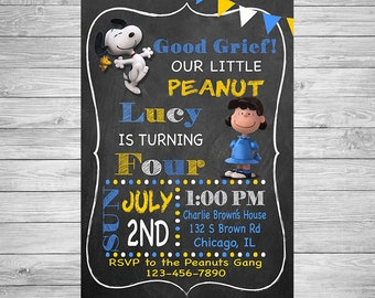 Snoopy Birthday Party Invitation for girls