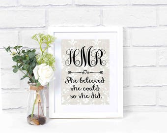 College Gift for Her- Dorm Decor- Back To School- Dorm Room Initials- Office Decor- College Dorm Decorations- Teen Room Decor