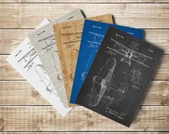 Staggered Biplane, Biplane Patent Print, Biplane Patent,Airplane Nursery,Aviation Decor,Aviation Wall Decor,Biplane Poster, INSTANT DOWNLOAD