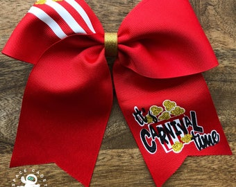 It's Carnival Time Cheer Bow; Fair Cheer Bow; Carnival Cheer Bow; Cheer Bow