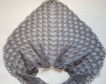 Beauty gift Gift for girlfriend Shawl Knitted shawl Unique gift Gray shawl  Wrap shawl Soft Gift for mom Gift Lace shawl Wrap shawl