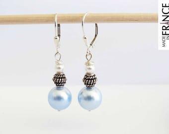 Earrings classic LILYBULLE blue