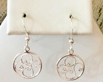 Sterling Silver Circular Earrings