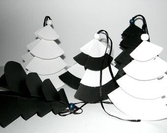 Black and White Christmas trees, Christmas