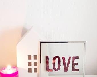 """Frame Herbarium word """"love"""""""