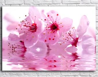 Flower wall art, Canvas Art, Print on Canvas, Sakura branch ,  Interior Art, Living Room Decor, Large Wall Art , Extra Large Canvas Art