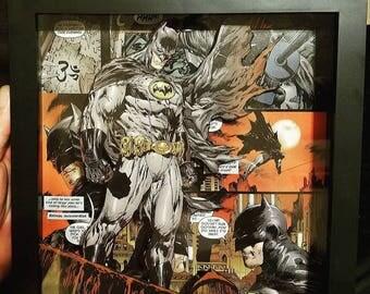 Wall art batman 3d shadow box frame