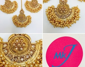 Earrings and Tikka Set