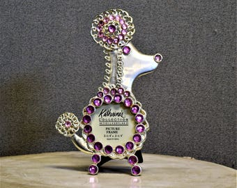 Poodle Dog Doggie Frame with Jewels
