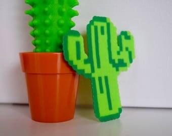 Cactus Mini Perler Beads - Cactus Keychain - Cactus Magnet - Cactus - Cactus Art - Cacti -Succulent Keychain -Succulent Magnet -Perler beads