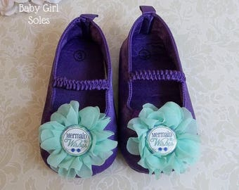 Mermaid First Birthday Outfit - Mermaid Shoes - Mermaid 1st Birthday Tutu - Mermaid 1st Birthday Outfit - Little Mermaid Birthday Outfit