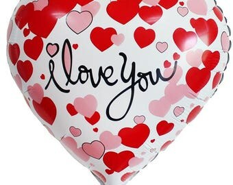 1pc Pink 18inch I Love You Foil balloons Love Heart wedding/Valentine's day helium balloon globos party supplies casamento decor