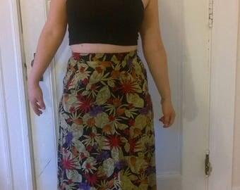 Vintage Floral Maxi Skirt