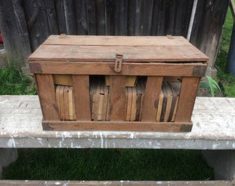 Vintage Wooden Berry Crate with Baskets