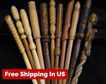 Custom wood wand made to your specs / Wizard wand / real wood wand / magic wand / let the wand choose you / choose your wood / handmade wand