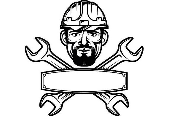 Construcci n logo 12 llave casco herramienta herramientas - Herramientas de fontanero ...