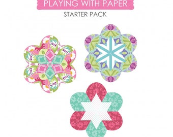 Sue Daley Designs, Playing with Paper, pack 44 starter pack, English paper piecing