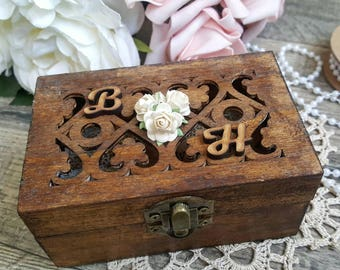Ring Bearer Box - Rustic Brown | Wedding Ring Box | Ring Box | Rustic Ring Bearer Box