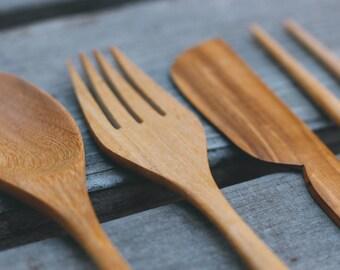 Eco-friendly Wooden Utensil Set