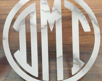 Marble monogram decal