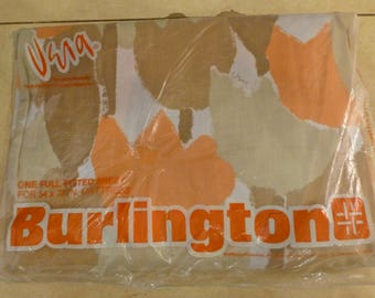 Vintage VERA Full Size Fitted Bed Sheet New In Package for Burlington Vera Neuman Flower Print