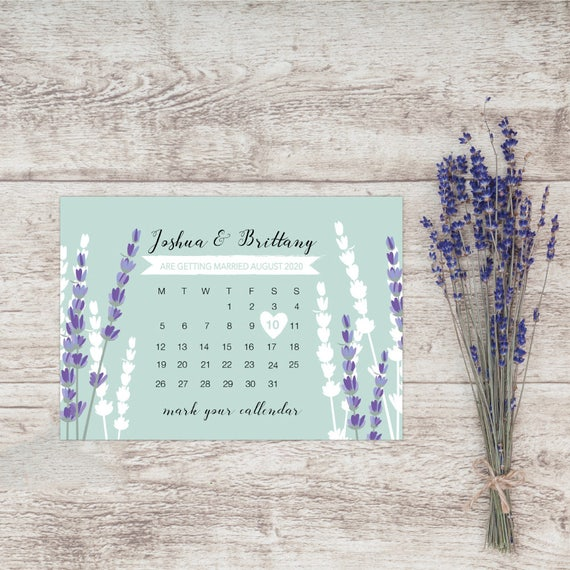 Lavender save the date, Save our date magnets, Calendar save the date magnets, Rustic save the date magnets, Save the date for wedding, A6