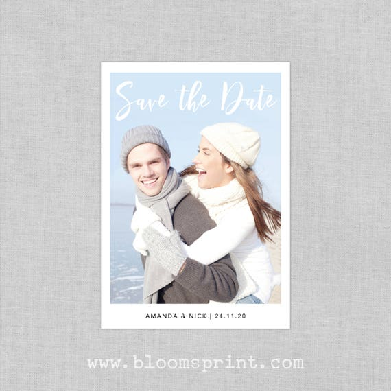 Custom photo save the date magnets for wedding, Wedding save the date fridge magnets, Save the date template, Save-the-Date Card, A6