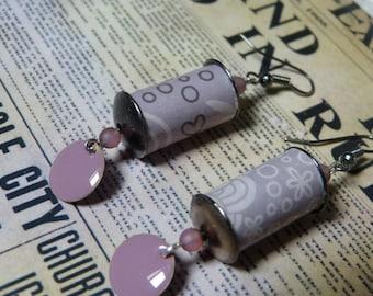 Paper & Sequin earrings