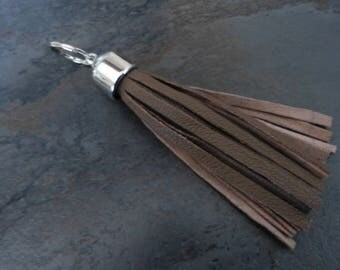 Keychain leather strips