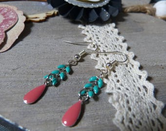 BO enameled ear chain & sequin