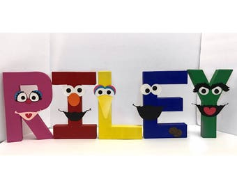 Sesame Street Letters | Elmo | Cookie Monster | Big Bird | Birthday Letters | Sesame Street Birthday | Photo Prop
